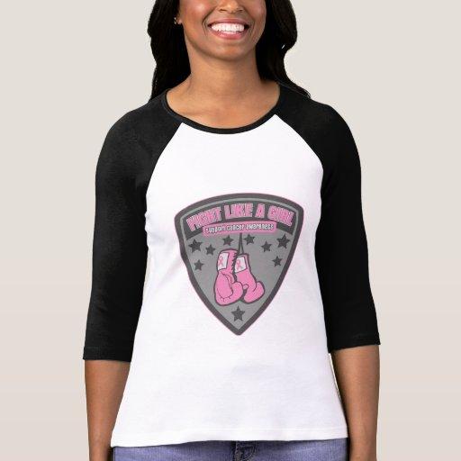 Lucha del desgaste del cáncer de pecho como un camiseta