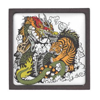 lucha del dragón y del tigre cajas de joyas de calidad