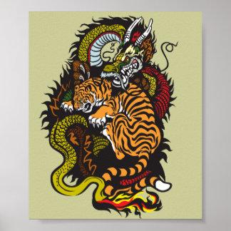lucha del dragón y del tigre posters