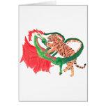 Lucha del dragón y del tigre tarjetón