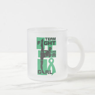 Lucha del equipo como un cáncer de hígado del retr tazas de café