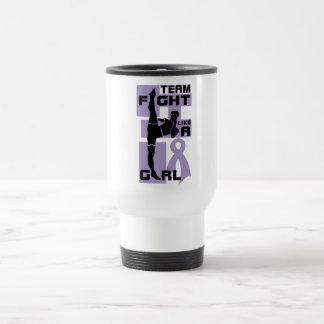 Lucha del equipo como un general Cancer del retroc Taza De Café