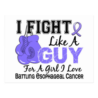 Lucha del esófago del cáncer como un individuo 15 postales