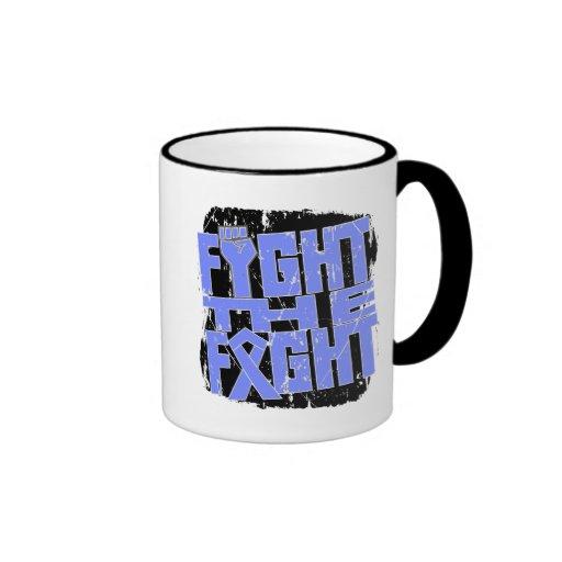 Lucha del esófago del cáncer la lucha taza de café