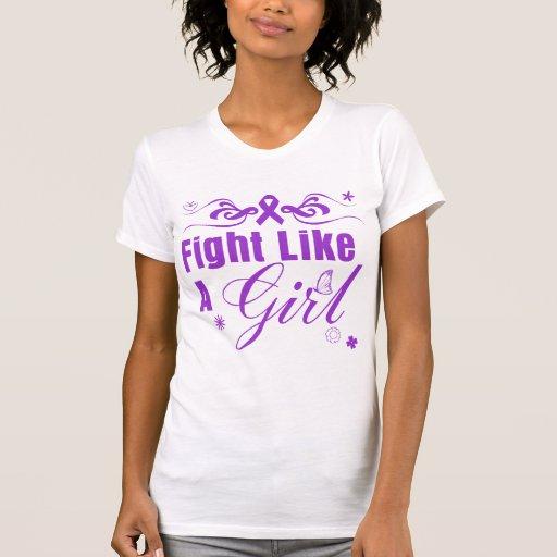 Lucha del Fibromyalgia como un chica adornado Tee Shirt