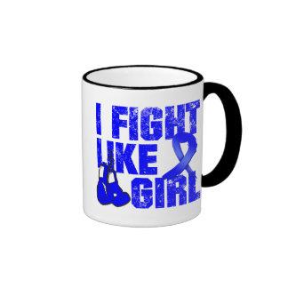 Lucha del Histiocytosis I como un chica (Grunge) Taza A Dos Colores