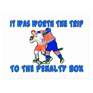 Lucha del hockey del banquillo de penalizados postal