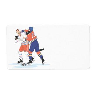 Lucha del hockey etiqueta de envío