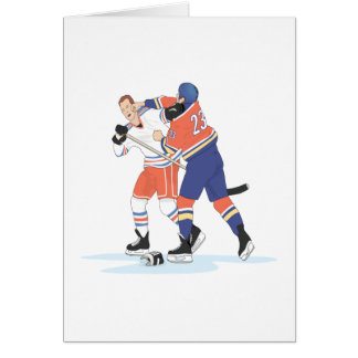 Lucha del hockey felicitación