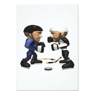 """Lucha del hockey invitación 5"""" x 7"""""""