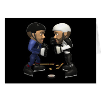 Lucha del hockey tarjeta