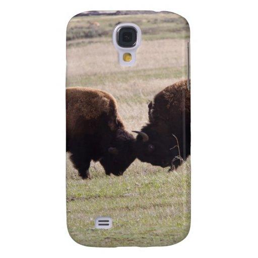 Lucha del juego de los bisontes funda para galaxy s4