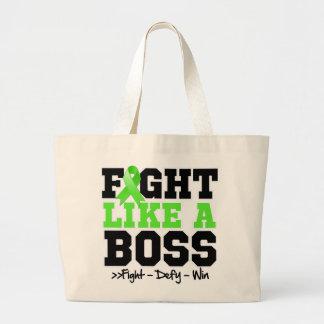 Lucha del linfoma de Non-Hodgkins como Boss Bolsa