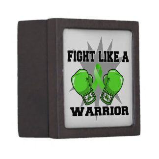 Lucha del linfoma de Non-Hodgkins como un guerrero Cajas De Joyas De Calidad