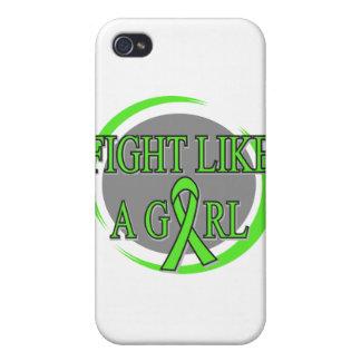 Lucha del linfoma de Non-Hodgkins como una circula iPhone 4 Protectores