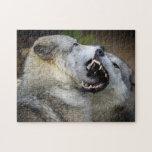 Lucha del lobo puzzles con fotos