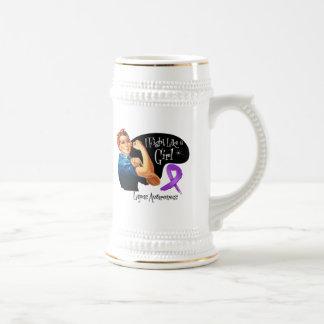 Lucha del lupus como un chica Rosie el remachador Tazas De Café