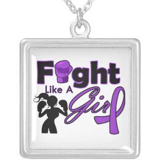 Lucha del lupus como una silueta del chica collares