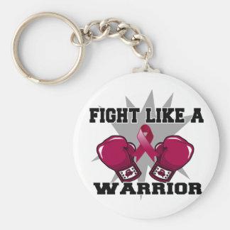 Lucha del mieloma múltiple como un guerrero llaveros personalizados