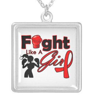 Lucha del movimiento como una silueta del chica joyeria personalizada