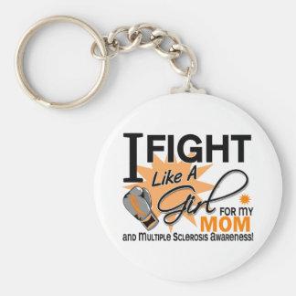 Lucha del ms como una mamá 11 del chica llavero personalizado