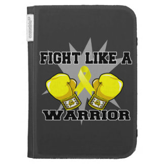 Lucha del osteosarcoma como un guerrero