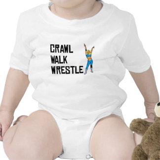 Lucha del paseo del arrastre traje de bebé