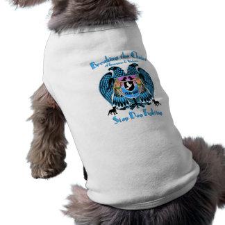 Lucha del perro de parada, perro americano de Terr Playera Sin Mangas Para Perro