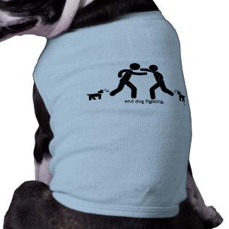 """lucha del perro del extremo. "" playera sin mangas para perro"