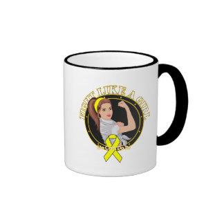 Lucha del sarcoma de Ewings como un chica Rosie mo Taza De Café