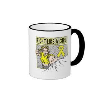 Lucha del sarcoma de Ewings como un sacador del ch Taza De Café