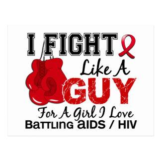 Lucha del SIDA como un individuo 15 Postal