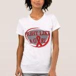 Lucha del SIDA como una circular del chica Camiseta