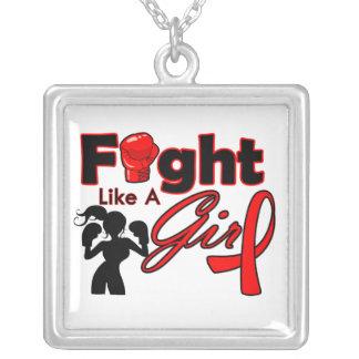 Lucha del SIDA como una silueta del chica Joyerias