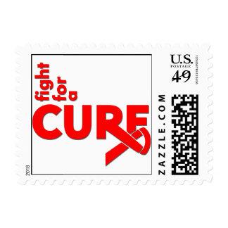 Lucha del SIDA para una curación Sello