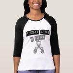 Lucha del tumor cerebral como un chica camisetas