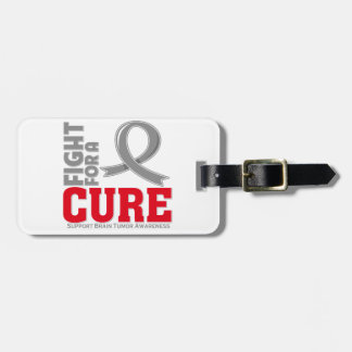 Lucha del tumor cerebral para una curación etiqueta para maleta