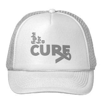 Lucha del tumor cerebral para una curación gorros