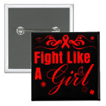 Lucha del VIH del SIDA como un chica adornado Pin
