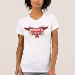 Lucha del VIH del SIDA como un chica Wings.png Camiseta