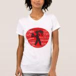 Lucha del VIH del SIDA como un collage del chica Camisetas