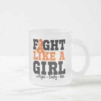 Lucha deportiva de la esclerosis muscular como un  tazas de café