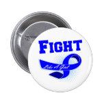 Lucha deportiva del cáncer de colon como un chica pins
