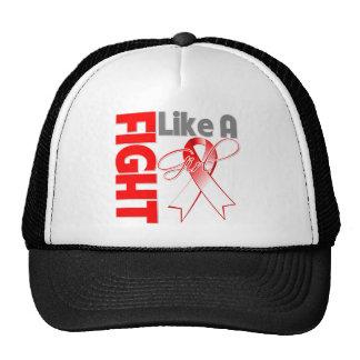 Lucha elegante del cáncer oral como una cinta del  gorras de camionero