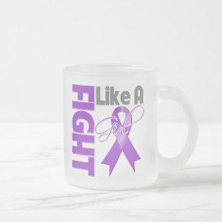 Lucha elegante del cáncer pancreático como una cin taza