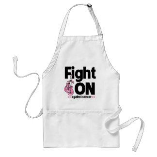 Lucha encendido contra cáncer de pecho delantal