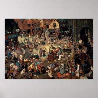 Lucha entre el carnaval y prestada, 1559 impresiones