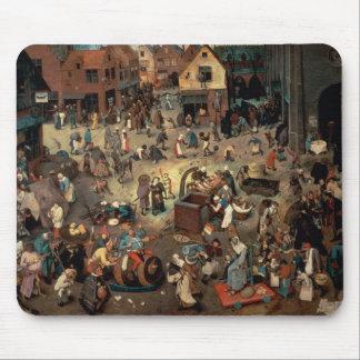 Lucha entre el carnaval y prestada, 1559 alfombrilla de ratones