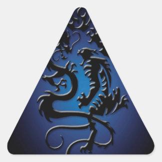 Lucha fresca abstracta de la bestia pegatina triangular