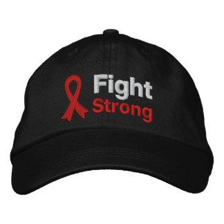 Lucha fuerte - conciencia de la enfermedad cardíac gorra de béisbol